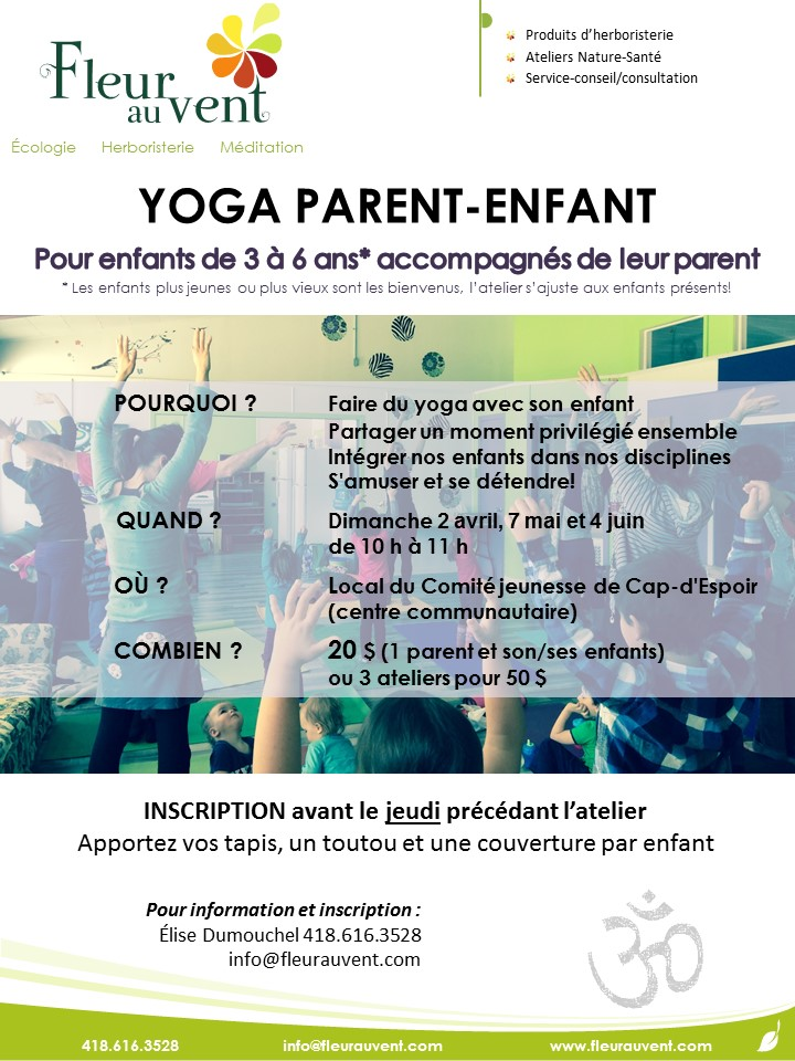 affiche yoga parent-enfant FAVprint2017