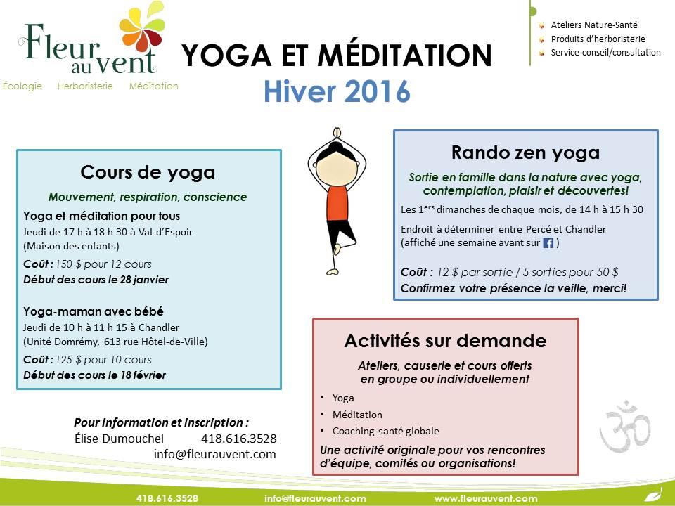 affiche yoga+méditation hiver 2016-2