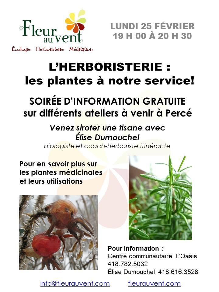 Soirée info Herboristerie Oasis