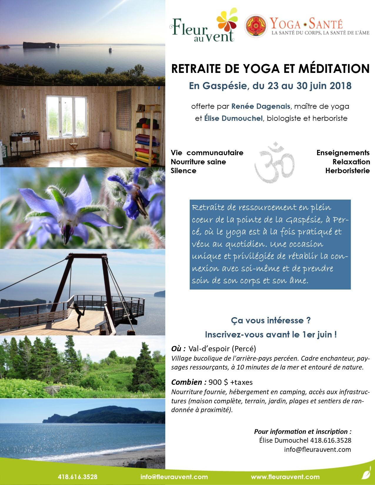 Retraite de yoga et méditation en Gaspésie
