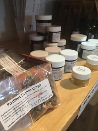 Sélection de produits d'herboristerie